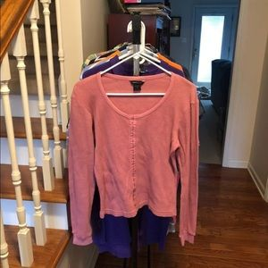 Moda International L/S Tee In Pink Size S